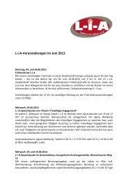 L-i-A-Veranstaltungen im Juni 2013 - Bocholt