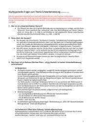 Häufig gestellte Fragen zum Thema Schwerbehinderung - Bocholt