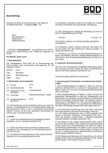 § 1 Vertragsgegenstand - BoD