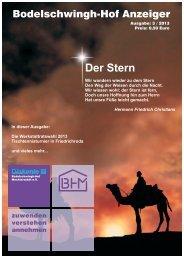 Ausgabe 3-2013 - Bodelschwingh-Hof Mechterstädt eV