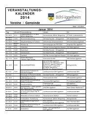 VERANSTALTUNGS - Gemeinde Böhl-Iggelheim