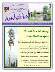 Amtsblatt vom 18.04.2013 (KW 16) - Gemeinde Böhl-Iggelheim