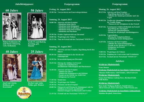 Der Schützenfest 2013 - in Bökenförde!