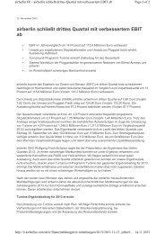 Pressemitteilung 13.11.2013