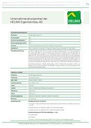 Unternehmenskurzportrait der HELMA ... - Börse Frankfurt