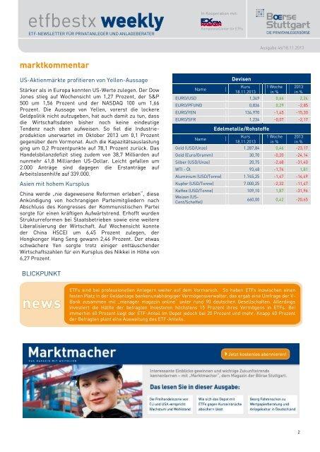 etfbestx weekly - Börse Stuttgart