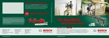 PDF - 2,4 MB - Bosch Elektrowerkzeuge für Heimwerker