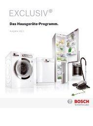 Zum Exclusiv Sortiment 2013 (PDF) - Bosch