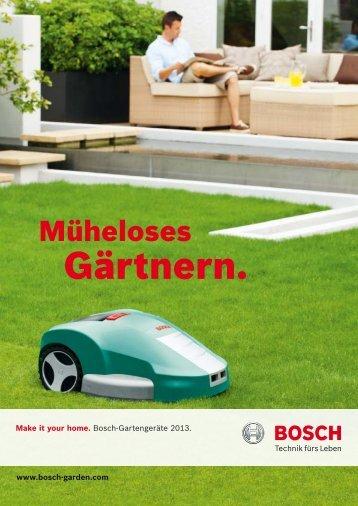 Gärtnern. - Bosch