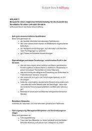 Mögliches Bewerberprofil (PDF) - Robert Bosch Stiftung