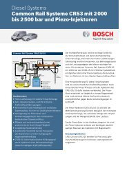 Diesel Systems Common Rail Systeme CRS3 mit 2 000 bis 2 500 ...