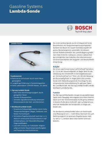 Planare Sprung-Lambda-Sonde - Bosch - Kraftfahrzeugtechnik