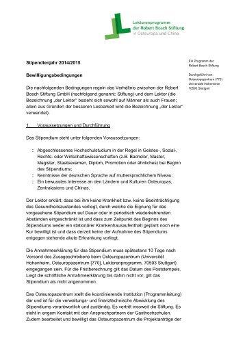 Bewilligungsbedingungen 14_15 (PDF) - Robert Bosch Stiftung