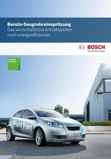 Benzin-Saugrohreinspritzung Das wirtschaftliche Antriebsystem ...