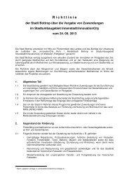 Richtlinie der Stadt Bottrop über die Vergabe von Zuwendungen im ...