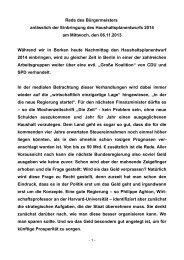 Rede des Bürgermeisters anlässlich der Einbringung ... - Stadt Borken