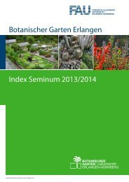 Seminum 2013-2014 - Botanischer Garten Erlangen - Friedrich ...