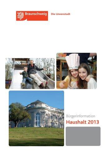 Haushaltsbroschüre 2013 - Stadt Braunschweig