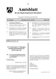 Amtsblatt - Bezirksregierung Düsseldorf