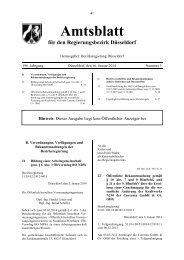 Amtsblatt Nr. 3 vom 16.01.2014 - Bezirksregierung Düsseldorf