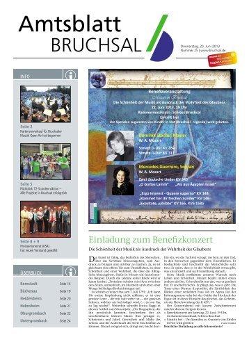 Amtsblatt KW 25/2013 - Bruchsal