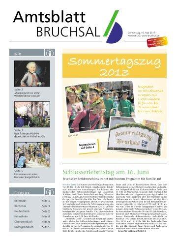 Amtsblatt KW 20/2013 - Bruchsal