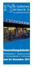 Veranstaltungskalender Juli bis November - Stadt Brühl