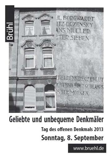 "Infobroschüre zum ""Denkmaltag"" - Stadt Brühl"
