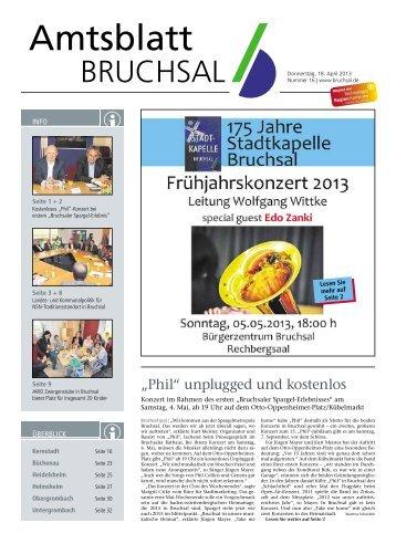 Amtsblatt KW 16/2013 - Bruchsal