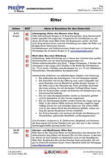 Unterrichtsbausteine: Ritter (PDF 103 Kb)
