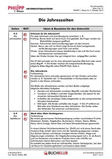 Unterrichtsbausteine: Die Jahreszeiten (PDF, 90 KB)