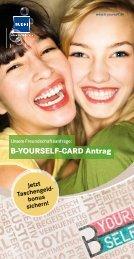 B-YOURSELF-CARD Antrag - Budni