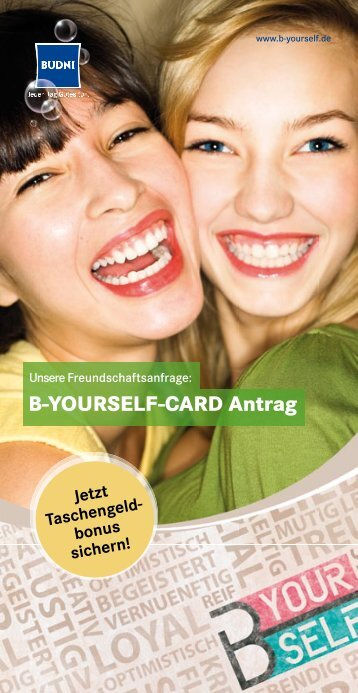 B-YOURSELF-CARD Antrag - Budni