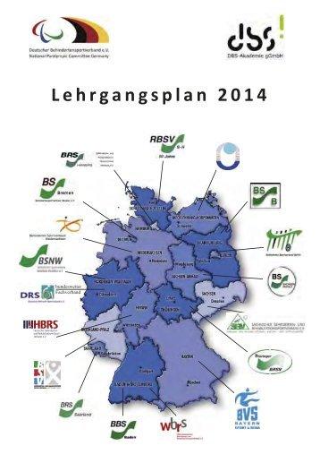 DBS-Lehrgangsplan 2014 PDF - Deutscher Behindertensportverband