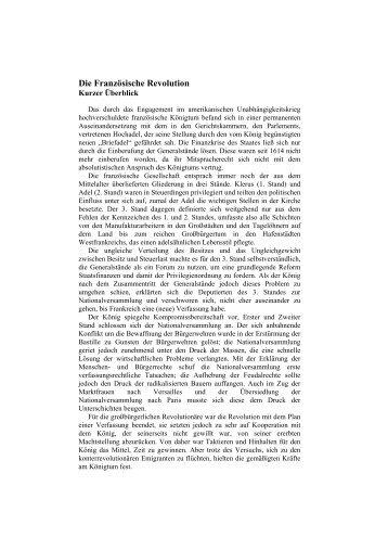 Die 48er Revolution Zusammenfassung Zum Lernen
