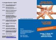 6. Lauf gegen Depression - Bündnis gegen Depression