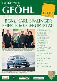 BGM. KARL SIMLINGER FEIERTE 60. GEBURTSTAG - Gföhl