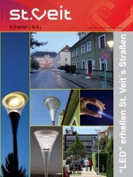 """LED"" erhellen St.V eits Straßen - Bürgermeister Zeitung"