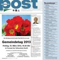 Gemeindetag 2013 - Bürgermeister Zeitung