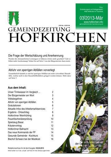 HOFKIRCHEN - Bürgermeister Zeitung