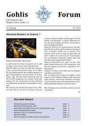 Gohlis-Forum 5/2013 - Bürgerverein Gohlis eV