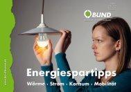 Energiespartipps - BUND