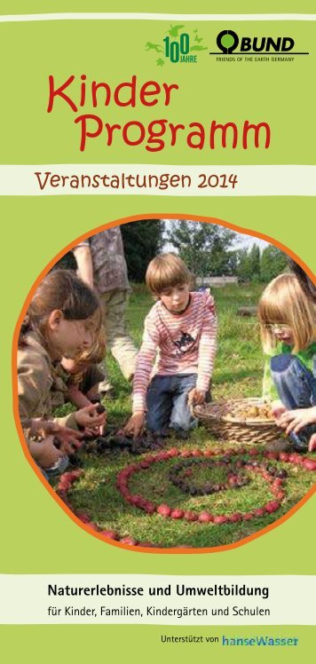 Kinderprogramm 2014 - BUND Bremen
