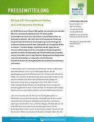 BN begrüßt Schutzgebietsinitiative des Landratsamtes Bamberg