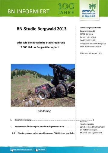 BN INFORMIERT - Bund Naturschutz in Bayern eV