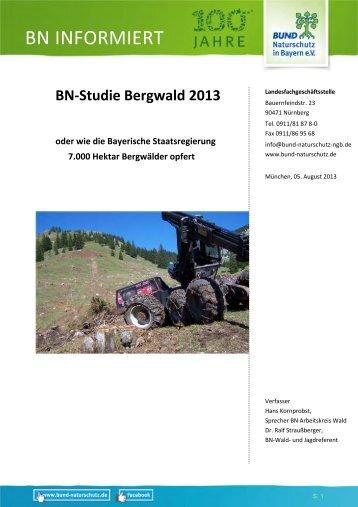 BN-Bergwald-Studie - Bund Naturschutz in Bayern eV