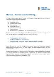Merkblatt – Wenn der Versicherer kündigt… - Bund der Versicherten ...