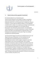 Positionspapier zur Bundestagswahl [PDF] - Bundesärztekammer