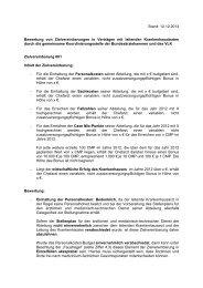 Bewertung von Zielvereinbarungen in Verträgen mit leitenden ...
