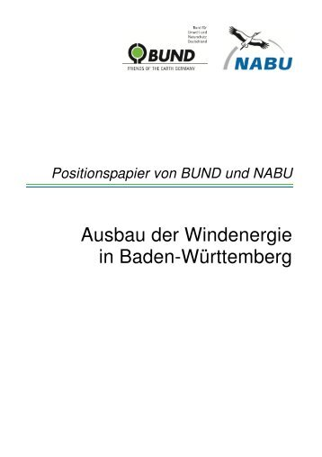 Positionspapier - BUND